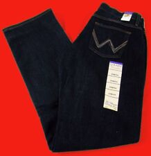 Womens Wrangler Q Baby Mid Rise Boot Cut Dark Dynasty Stretch Jeans Any Size