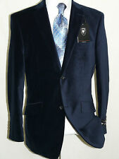 Men's Navy Blue Velvet Jacket Two Button Side Vents By Giorgio Cosani #491 SALE