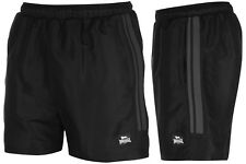 Lonsdale Boxing Mens Black Woven Gym Training or Holiday Shorts  FREE SHIPPING