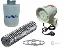 SALE Complete InLine Fan Carbon Filter Duct Kit Hydroponic Grow Room Ventilation