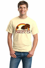 ANOTHER BEAUTIFUL DAY IN OAKLEY, CA Retro Adult Unisex T-shirt. California City