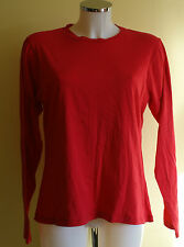 M&S (made for) Cotton Rich Stretch Long Sleeved Vest Red NEW Size 22