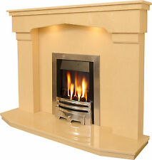 Washington MARBLE FIREPLACE SURROUND With down lightsOptional Gas Electric Fire