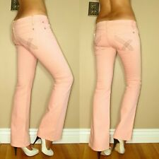$194 James Pink Shell Colored Wash Lifting Slimming Boot Low Strtch Jeans USA 26