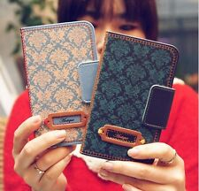 For Samsung Galaxy Note 2 Cute Leather Skin Case Cover Card Wallet- Antique Mood