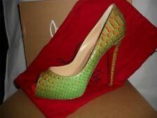 Christian Louboutin VERY PRIVE Python Fairy Tale Platform Heel Pumps Shoes $1395