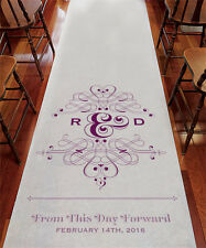 Wedding Ceremony Decoration FANCIFUL MONOGRAM Personalized Aisle, Isle Runner