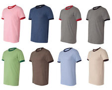 Canvas Heather Ringer Jersey T-Shirt, Mens Tee, Choose from S-2XL (3055)