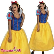 Ladies Snow White Costume Princess Fairy Tale Halloween Hens Party Fancy Dress