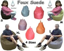Foux Suede Large Beanbags Adults Kids Bean Bags Giant Childrens Bead Filled Bag