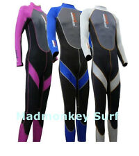 NALU ADULT FULL LENGTH WETSUIT MENS WOMENS LADIES BLUE PINK GREY bodyboard swim
