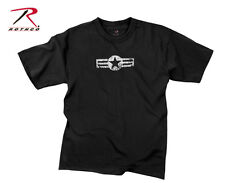 Rothco US Military Army Air Corps AAC Retired Veteran Vintage Black Army T-Shirt