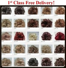 Natural Look Synthetic Elastic Scrunchie Curly Bun Hairpiece Hair Extension