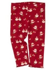 GYMBOREE COZY OWL RED w/ OWLS N FLOWERS LEGGINGS 3 6 12 18 2T 3T NWT