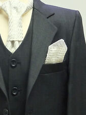 PAGE BOYS SUIT IN CHARCOAL BLACK  ITALIAN DESIGN DINNER, WEDDING, PARTY, 1 TO 16