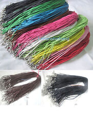 Pick Color.Lots 50/100pcs Korea Style Wax Cords Necklace w/Lobster Clasp 17.5""