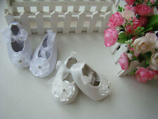 BRAND NEW, BABY, TODDLER ,GIRL, WHITE/IVORY CHRISTENING SATIN SHOES 4 SIZE