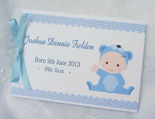 PERSONALISED BABY SHOWER* BIRTH* GIRL OR BOY* PHOTO SCRAPBOOK ALBUM* GUEST BOOK