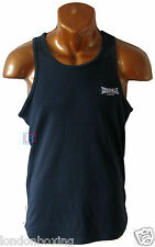 Lonsdale Singlet Blue Muscle Gym Weight Lifting Tank Sizes S to 4XL FREE POST