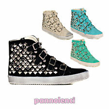 Scarpe donna sportive ginnastica SNEAKERS borchie STUDDED STUDS JH71