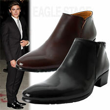 EagleStage New MENS 'Winston' Classic Leather Dress Ankle Boots US 6 7 8 9 10