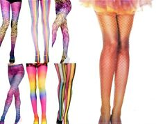 LADIES MULTI COLOUR TONE STRIPED COMIC CARTOON ANIMAL PRINT PRINTED TIGHTS NEW