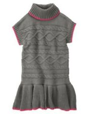 GYMBOREE LOVEABLE GIRAFFE GRAY CABLE COWL NECK SWEATER DRESS 4 5 7 8 12 NWT