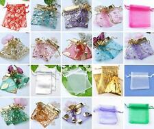 10pc Organza Jewelry Gift Pouch Bags Wedding Xmas Favors Mixed