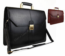 High Quality Faux Leather Executive Business Satchel Bag Work Briefcase Carry