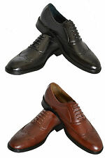 Delli Aldo Classic Wing Tip, Black and Brown Colors.