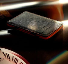 Mens PU Leather Magic Flip Wallet Ultra Slim Credit Card Holder Money Clip Pouch