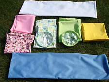 Diaper Genie elite Cloth Refill Gift set starter pack 2 large wet bag 1 ring