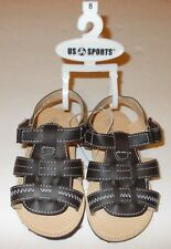 NWT US SPORTS BOYS VELCRO SANDALS SIZES AVAILABLE: 9 OR 8