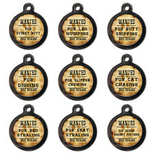Cool Funny Personalised Pet Dog Cat Name ID Tags For Collar - Engraved FREE