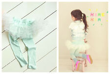 Boutique Pretty Set-up Pants Fake 2Ps Leggings W/ Tutu Stretchable Ankle Length