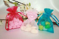 All colours Small Organza Pouch Wedding Favour Gift Jewellery Tie Bag 10 x 7.5cm