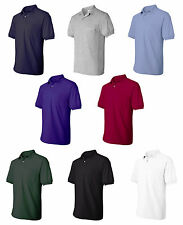 Hanes Mens Jersey Sport Shirt with a Pocket, Polo, Choose Size S-4XL (0504)