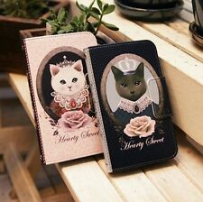 For Apple iPhone 5 Cute & Lovely Cat Skin Case Cover Card Wallet-Hearty Sweet