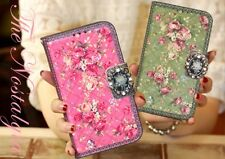 For Samsung Galaxy Note 2 Lovely Leather Skin Case Cover Card Wallet-Nostalgia
