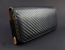 Blk Leather Carbon Fiber LooK Pouch Case Belt Clip Holster Accessory CTC HTC