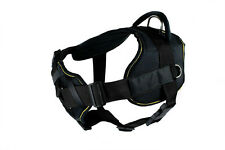DT FUN with Chest Support Fully Padded Nylon Dog Harness in yellow trim