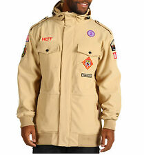 2013 NWT NEFF CAMP REJECT SOFTSHELL SNOWBOARD JACKET $140 khaki BRAND NEW