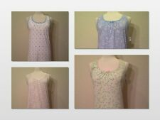 NEW CHARTER CLUB INTIMATES SLEEVELESS FLORAL COTTON KNIT SLEEPSHIRT GOWN XS/S/M