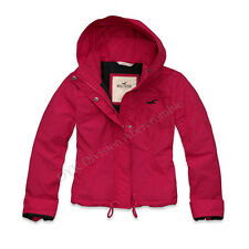 Hollister by Abercrombie Costa Mesa Seagull Women Pink Wind Jacket -Free $0 Ship
