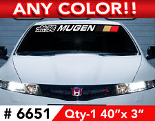 "MUGEN w/ 3 COLOR BARS WINDSHIELD DECAL STICKER 40""x3"""