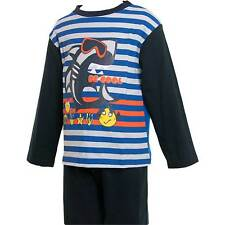 Baby Boys Lullaby Be Cool Jersey Pyjamas Navy Blue White Striped 6-23 Mths