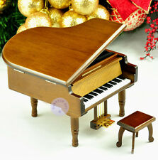 Wooden Piano Music Boxes from Sankyo Musical Movement Play more than 10 Melodys
