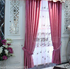 %H Customized Chenille Rose Red 90% Blockout Index Home Decoration Curtain