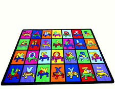 5'8' & 8'x10' My ABC Place Educational Area Rug School Daycare Kids Decor Room