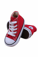KIDS INFANT CONVERSE CHUCK TAYLOR ALL STAR HI 7J232 RED